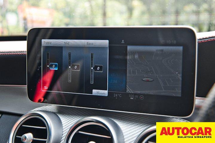 Mercedes-AMG C 43 COMAND Burmester audio control