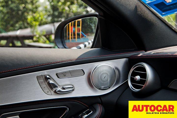 Mercedes-AMG C 43 left door card seat controls