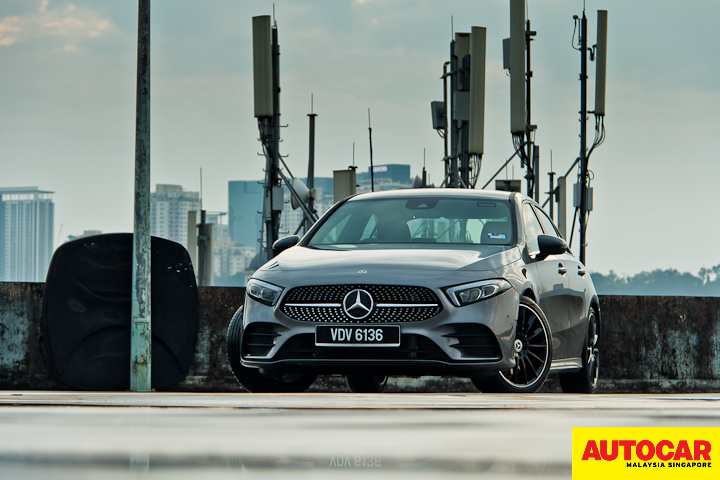 An image of the Mercedes-Benz A250 Sedan AMG Line front