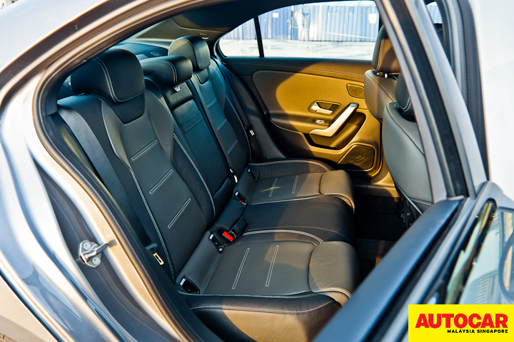 An image of the Mercedes-Benz A250 Sedan AMG Line LED rear passanger seats