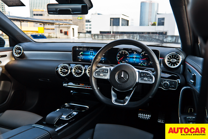 An image of the Mercedes-Benz A250 Sedan AMG Line LED dashboard