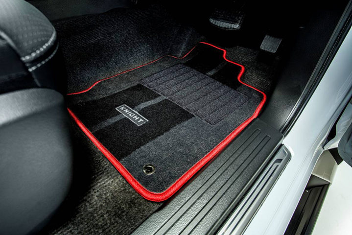 Mitsubishi Triton Knight red stitching carpet mat