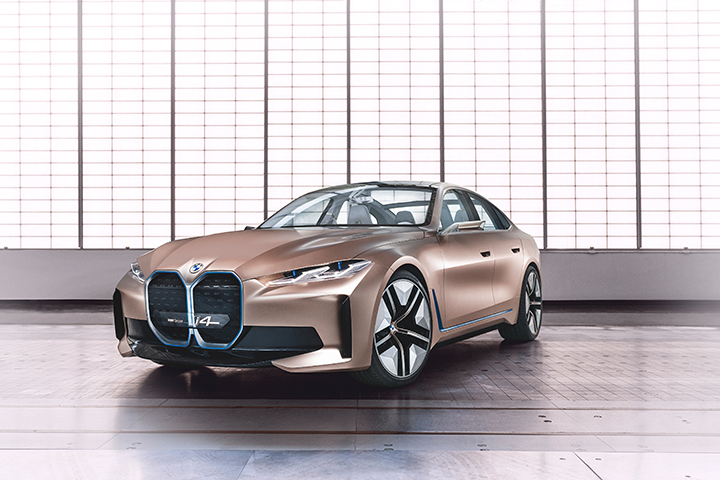 BMW showcases i4 all-electric concept car, series production in 2021