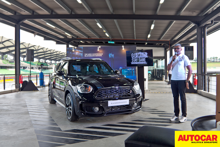 Photo of Sashi Ambi with the MINI Countryman Blackheath Edition at the MINI Track Day 2020