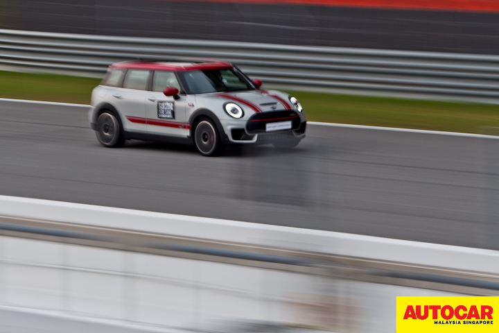 MINI John Cooper Works Clubman on the back straight of Sepang International Circuit during the MINI Track Day 2020