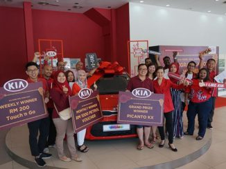 Naza Kia Malaysia CNY campaign winner drives away in Kia Picanto