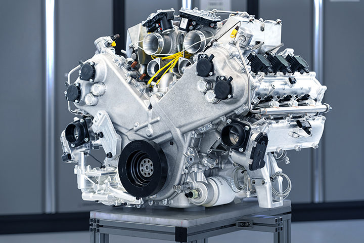 Aston Martin unveils new in-house twin-turbo V6 engine
